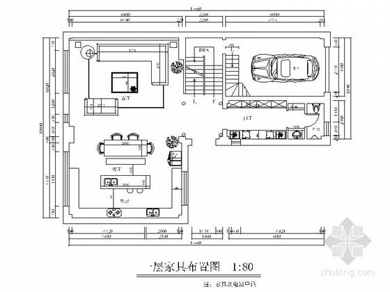 [北京]海淀区某高端别墅室内装修图