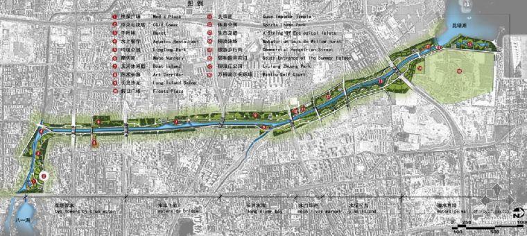 北京某水上景观走廊总平面图