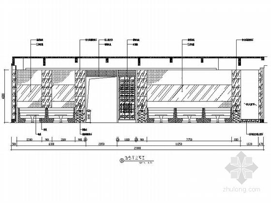 [广东]名师设计高档四星级国际酒店装修图西餐厅立面图
