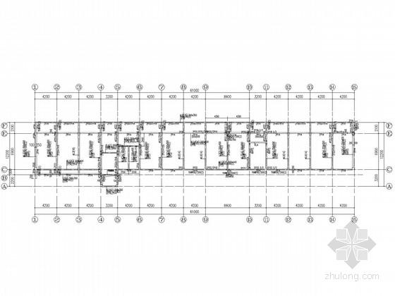 [山东]三层管件车间及办公楼框架结构图