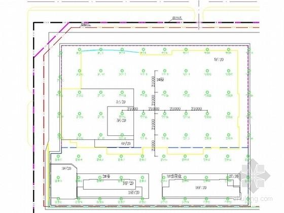 [河南]深基坑桩锚支护结合复合土钉墙施工图