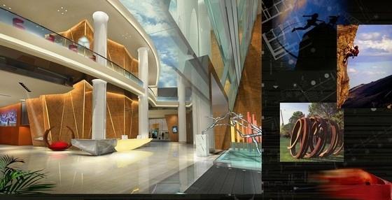 [深圳]全资跨地域国际化现代酒店设计方案图
