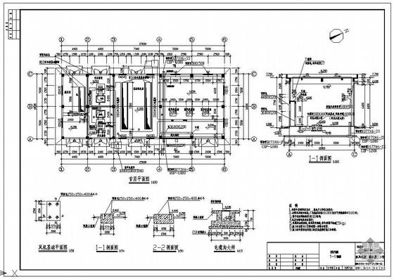 湖北某污水处理厂鼓风机房,配电房工程图纸