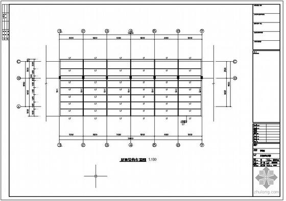 某钢结构停车棚结构设计图