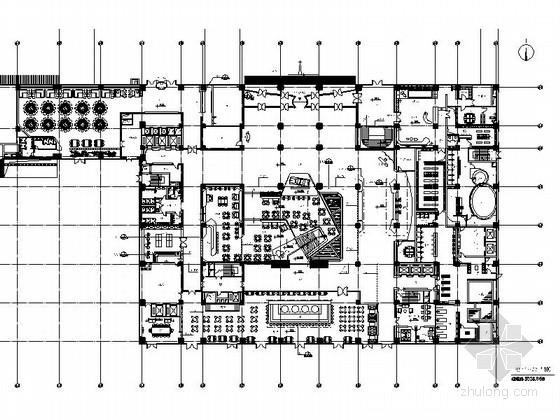 [北京]知名企业现代汽车培训服务中心室内装修施工图(含方案)