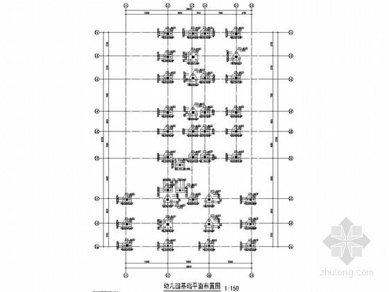 [广东]五层框架结构幼儿园结构施工图(含钢筋下料)