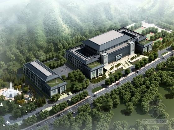 [山东]某中式四层行政办公楼方案设计文本(含PPT)