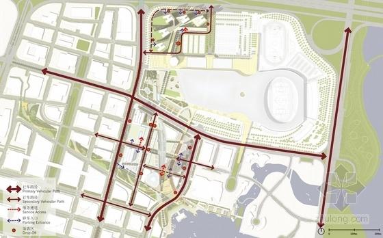 [深圳]沿海新区超高层城市中心总体规划设计方案文本-沿海新区超高层城市中心分析图