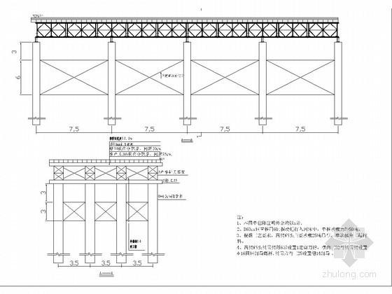跨河大桥工程高架码头及人行钢栈桥布置图