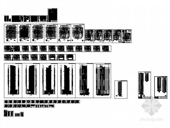 [深圳]56层玻璃幕墙办公大厦建筑设计施工图(含效果图知名设计院)-总缩略图