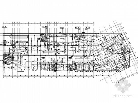 [河北]大型商业广场空调通风及防排烟系统设计施工图(含采暖设计)
