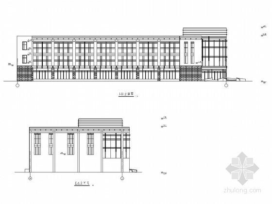 [学士]三层钢框架结构办公楼毕业设计(含建筑图、结构图、计算书)