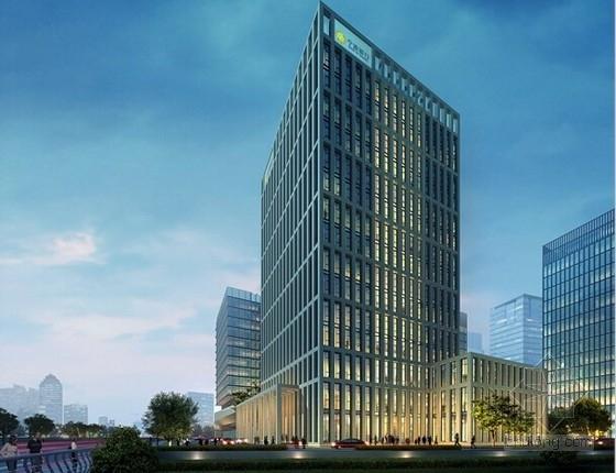 [苏州]15层框架结构金融办公楼幕墙外装竣工图