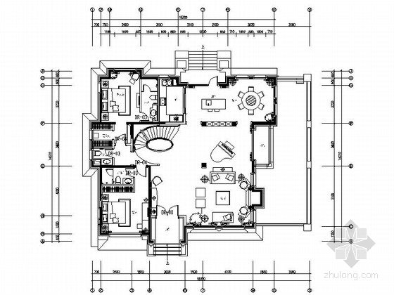 [北京]高贵欧式新古典主义风格两层别墅精装施工图(含方案)
