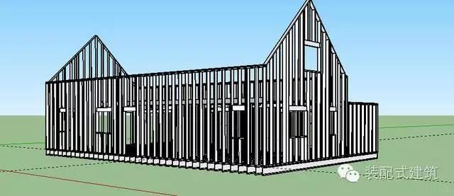 美国农村建房全程实拍——装配式木结构施工,速度快、性能好!_24