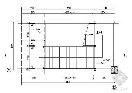 两跑钢结构楼梯详图(一)