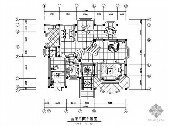 [江苏]三层豪华别墅设计装修图