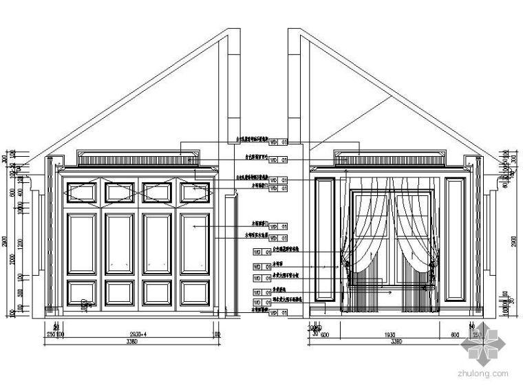 欧式卧室立面图