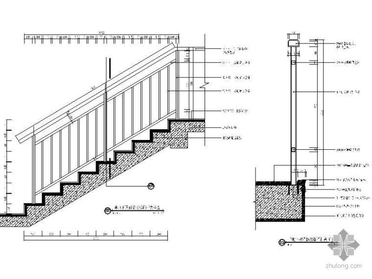消防楼梯栏杆大样图