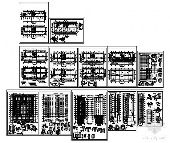 某十三层写字楼建筑施工图-4
