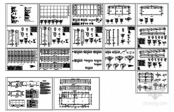 某18米跨钢结构厂房设计图