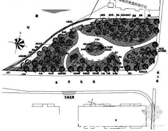 某市绿地绿化景观设计施工图