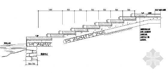 码头台阶剖面图详图