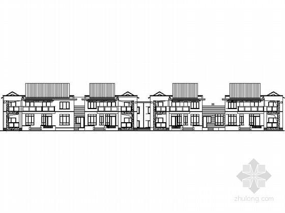 某二层四联排别墅建筑施工图