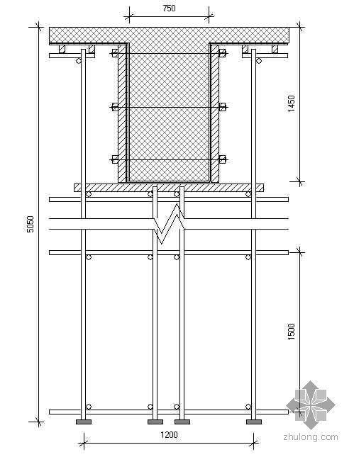 某游泳馆高大支模架及V型柱施工方案
