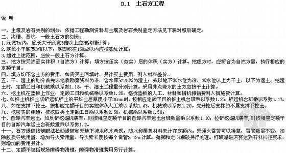 [河南]2008版市政工程量清单综合单价定额解释及工程量计算规则(66页)