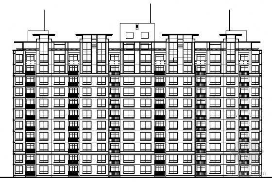 某十二层高层住宅楼建筑方案图(带跃层和地下车库)