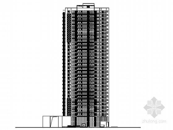 [南充市]某城市核心區高層住宅小區1號樓建筑施工圖(含節能設計)