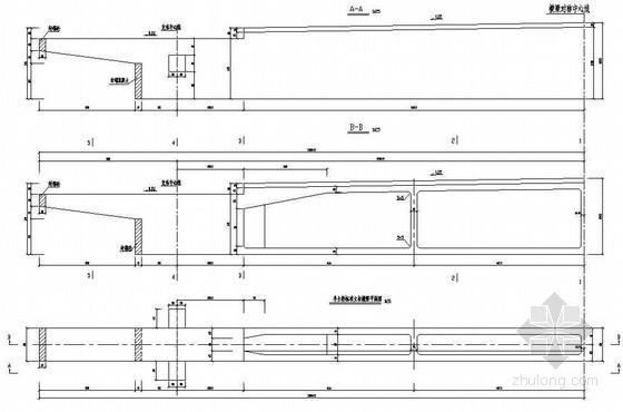 380m中承式系杆拱桥拱上立柱处横梁一般构造节点详图设计