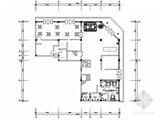 [学生作品]时尚现代快捷宾馆装修施工图(含效果)