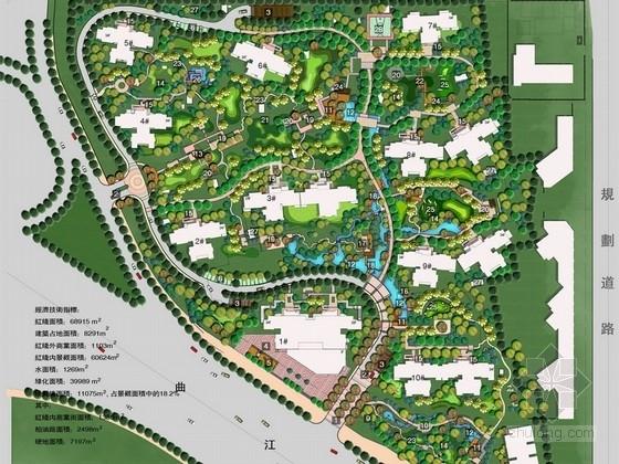 [西安]现代生态生活休憩居住小区景观规划设计方案