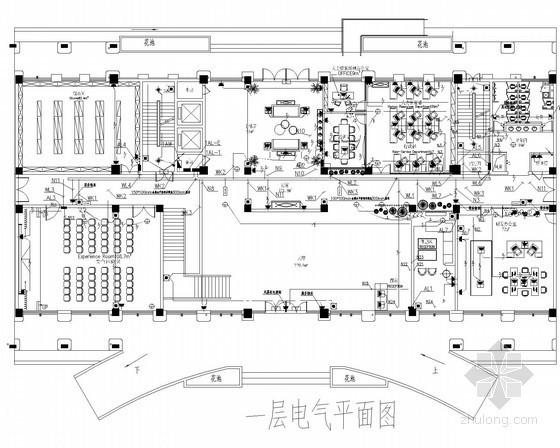 [广西]八层办公楼水电深化设计电施图44张(2014年5月设计)