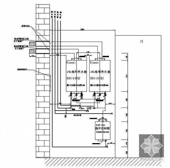 高档住宅区给排水消防施工图423张 3个生活区 地下室 37万平方米图片