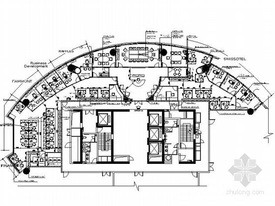[深圳]电子商务公司现代风格办公室装修图(含方案文本)