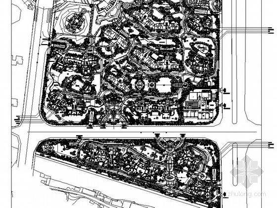 [佛山]县城居住区园林景观植物种植设计施工图