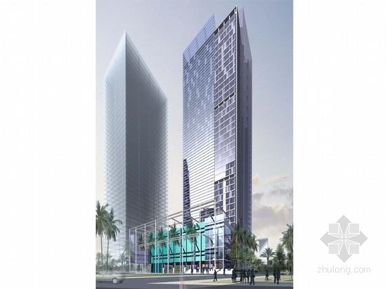 [广东]现代风格超高层商务办公建筑设计方案文本(含CAD)