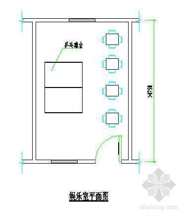 学习室、娱乐室平面图