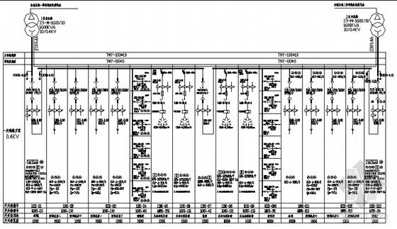 某医院高低压电气主接线图