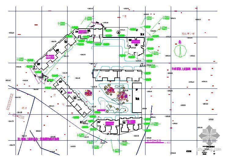 某住宅施工现场平面布置图