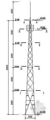 某通信铁塔结构图