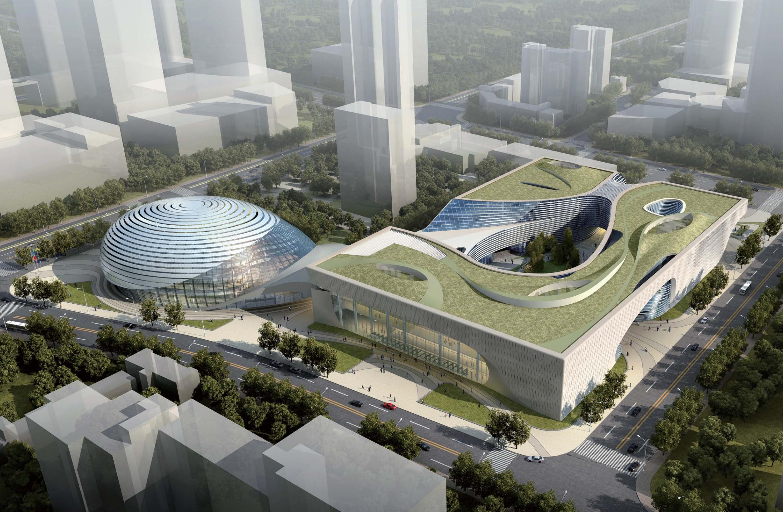 [江苏]苏州吴中区东吴市民中心文化建筑群设计方案文本