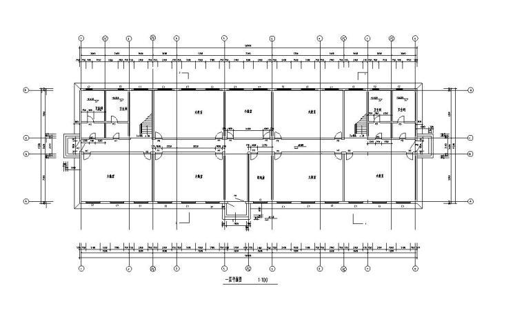 [六层]现浇混凝土框架结构教学楼(建筑图、结构图)