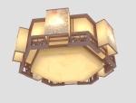 多边形吸顶灯3D模型下载