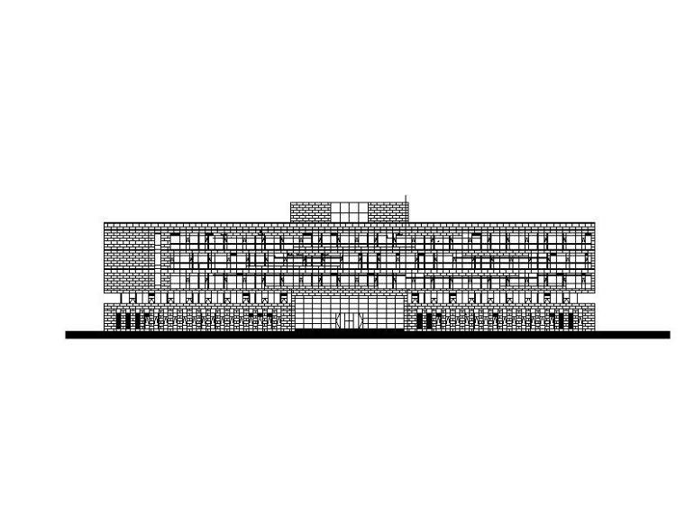 [安徽]五层知名金融中心框架结构办公楼建筑施工图