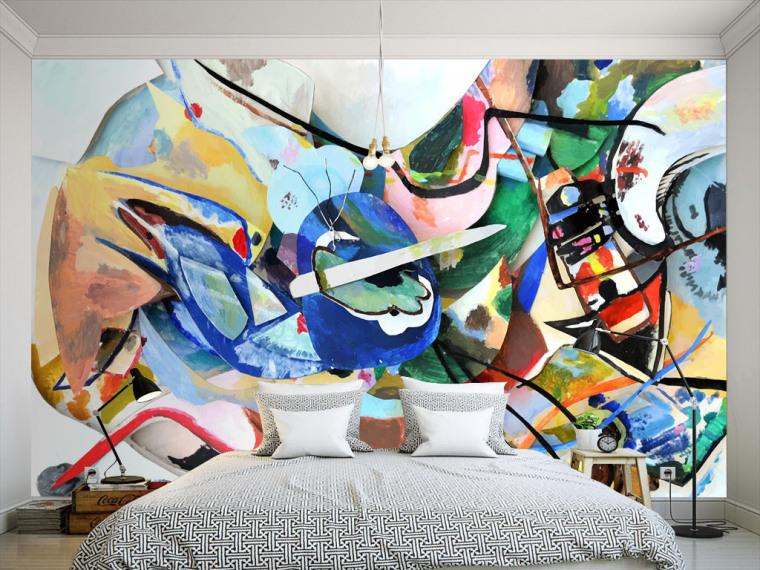 拒绝平庸,有什么墙纸可以比得上手绘的个性涂鸦墙呢?_3