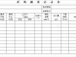 地铁工程盾构工程检查证及检验批验收记录用表(14个表格)